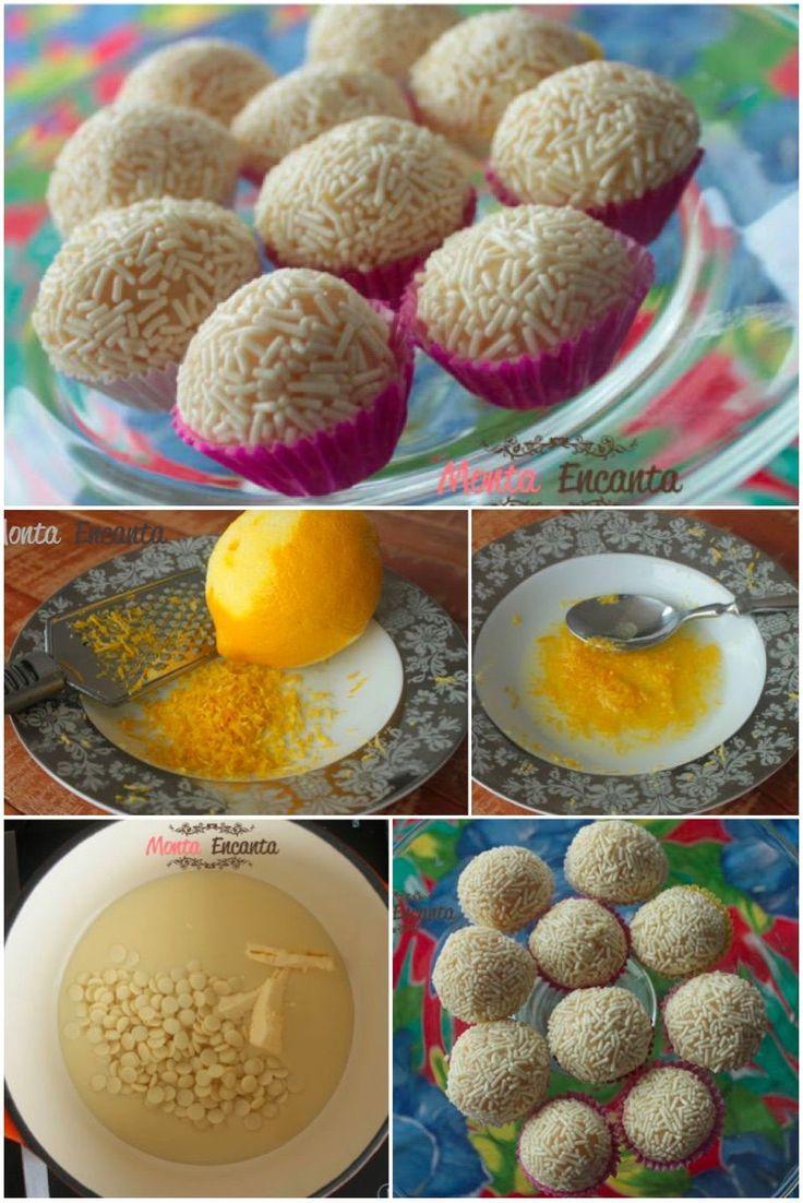 Como preparar brigadeiro gourmet de limão sociliano.