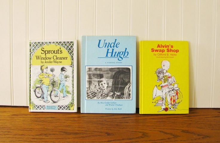 Vintage Boys Books Sprouts Window Cleaner, Uncle Hugh, Alvin's Swap Shop Weekly Reader Young Readers Chapter Book Elementary Reader by HipCatRetroVintage on Etsy
