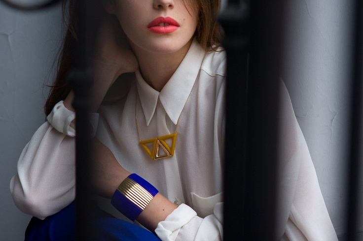 collier /necklace Victoria  manchette / cuff Elise  collection anne thomas