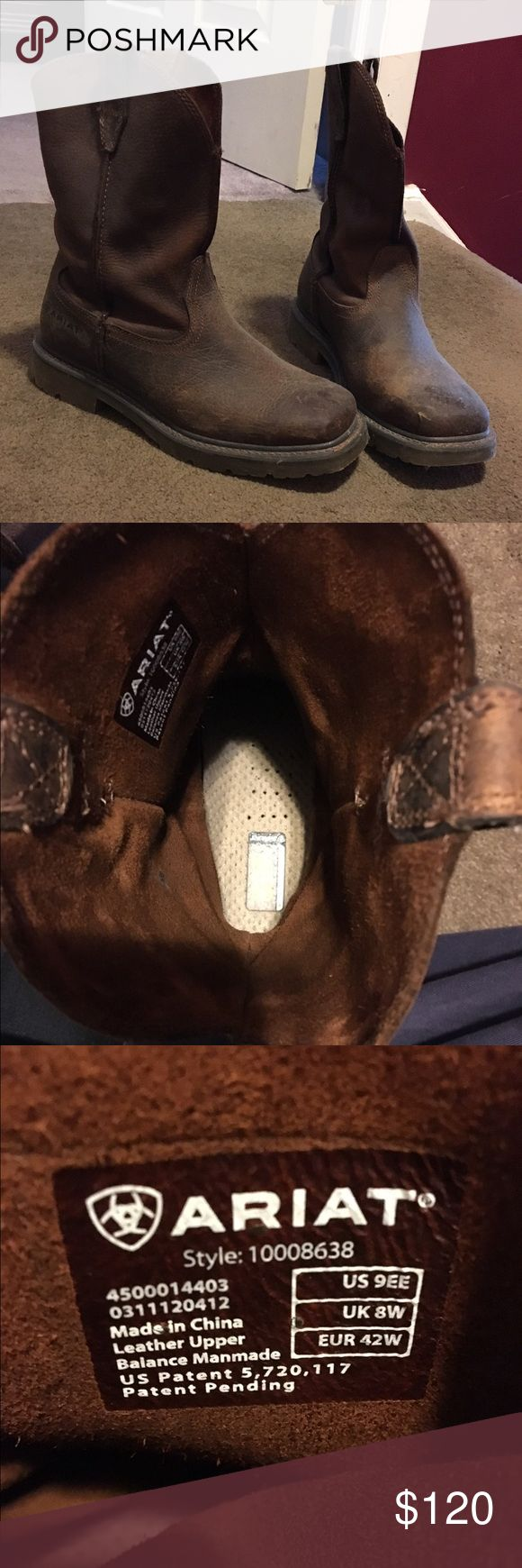 NWOT Ariat men's work boot Ariat rambler work edition size 9 in men's. Brown leather. Never worn, brand new! Ariat Shoes Boots