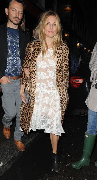 Sienna Miller seen at Balthazar Restaurant for a fashion party meal in London.