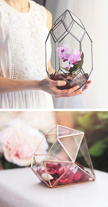 Handmade Geometric Terrariums by Waen…