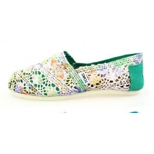 $28 // Toms Colored Neon Green Crochet Women's Classics Limited Edition