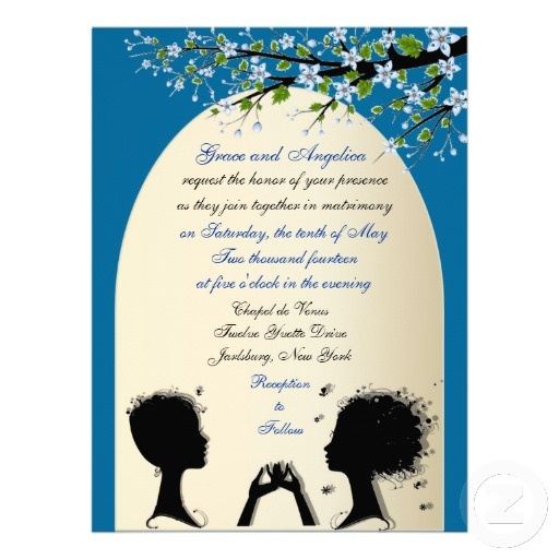 Sonata Custom Lesbian Wedding Invitations