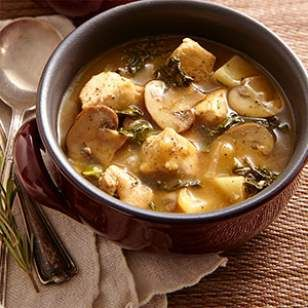 Turnips are a great, metabolism-friendly sub for potatoes in stews -- they're so similar in texture, with a wonderful, subtle flavor. Sub extra broth for the white wine, and omit the cornstarch in this healthy Chicken Stew with Turnips & Mushrooms -- works for D-Burn (use shiitake mushrooms), I-Burn (sub parsley for the rosemary), and Phase 1 (saute in broth instead of oil, and thicken with arrowroot).