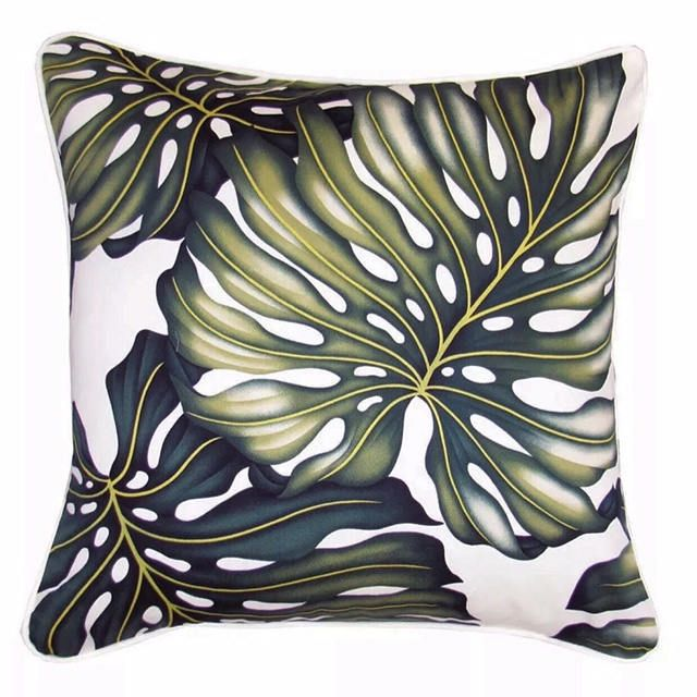 Cushion Tropical Two x Monstera Leaf Tropical Cushions Pillows - Double Sided, Island, Polynesian, Beach, Coastal, Summer, Paradise, Hawaii by islandinspiredhome on Etsy
