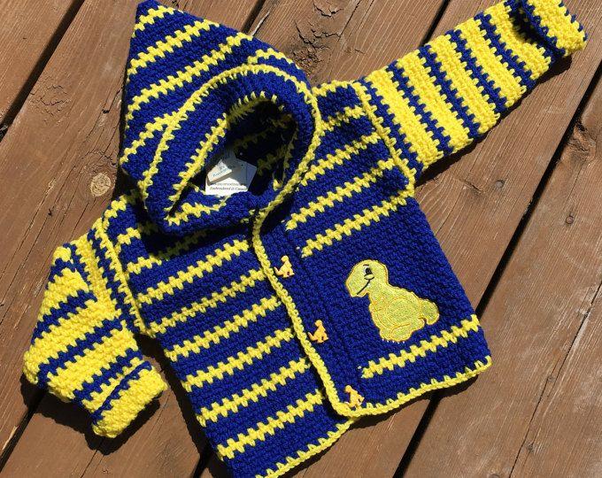 Attitude Child Crochet Hooded Cardigan  Boy/'s Girls Hooded Jacket pattern