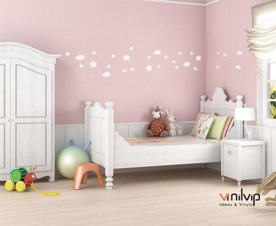 vinilos infantiles nuebes estrellas