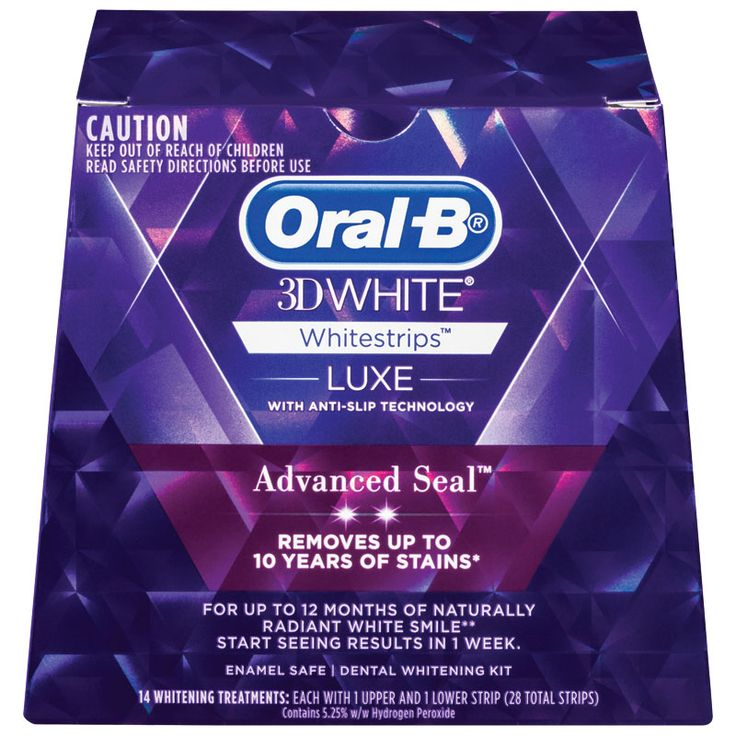 $24.49 Oral B 3D White Luxe Advanced Seal White Strips 14 Pack