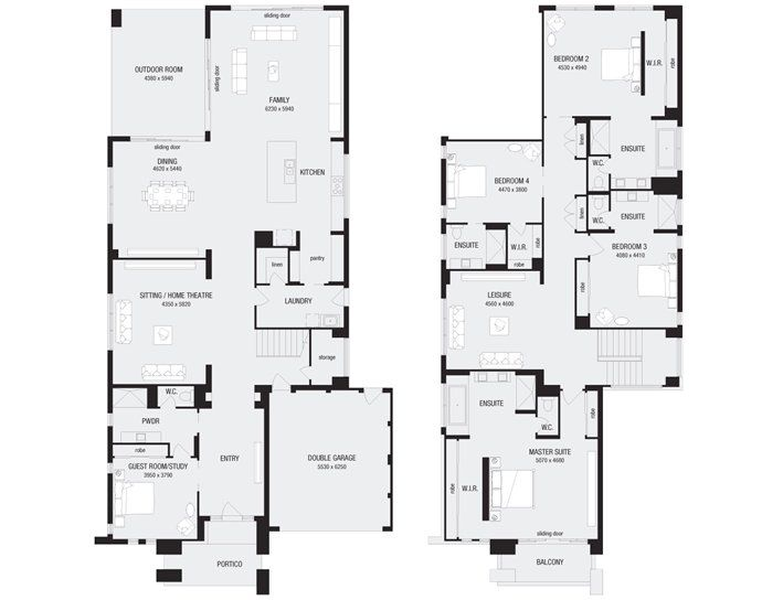 Monarch 58, New Home Floor Plans, Interactive House Plans