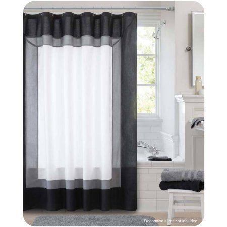 Canopy Hotel Shower Curtain, Black