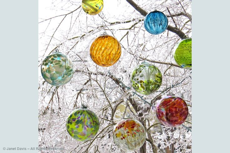 My Witch's balls - December 21 ice storm