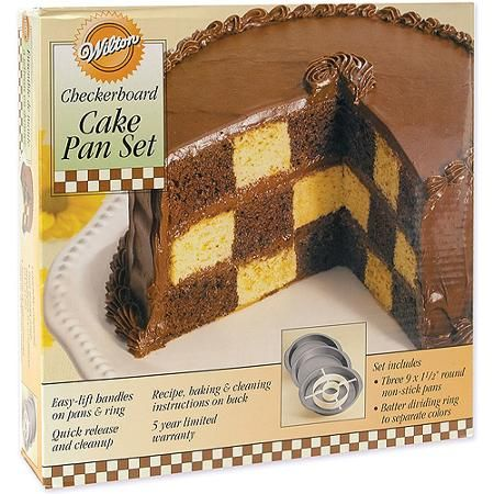 "Wilton Checkerboard Cake Pan Kit-9""X1.5"""