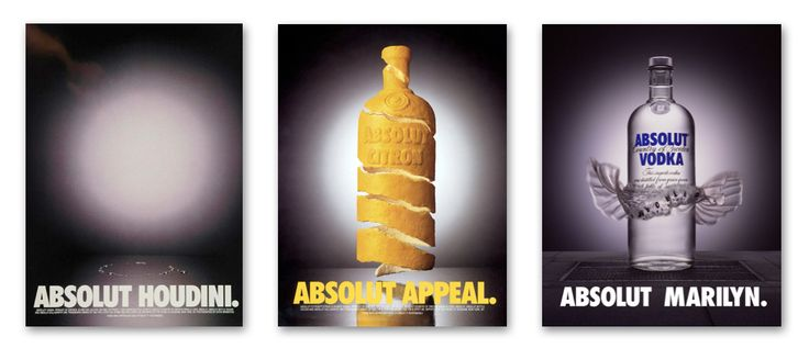 Absolut Vodka by V&S Vin & Spirit/Pernod Ricard (1979). For branding fans, the ABSOLUT [BLANK] campaign borders on perfection, especially for the vitality it gave to Absolut's remarkable bottle. The bigger picture of Absolut's success shows a story of incisive strategy and relentless innovation. It's an inspiration to anyone creating persuasive products today.