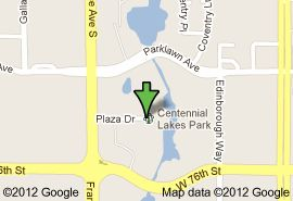 Google map of Centennial Lakes Park