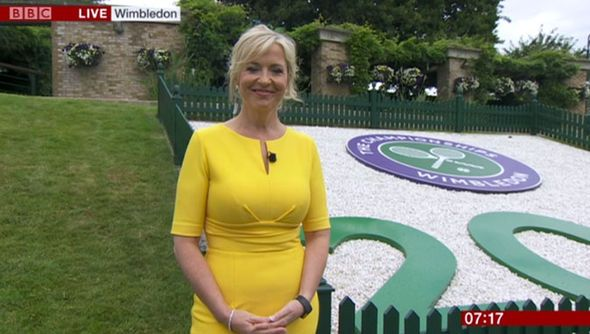 BBC Weather: Carol Kirkwood sets pulses racing in SKINTIGHT frock for Wimbledon shoot - http://buzznews.co.uk/bbc-weather-carol-kirkwood-sets-pulses-racing-in-skintight-frock-for-wimbledon-shoot -