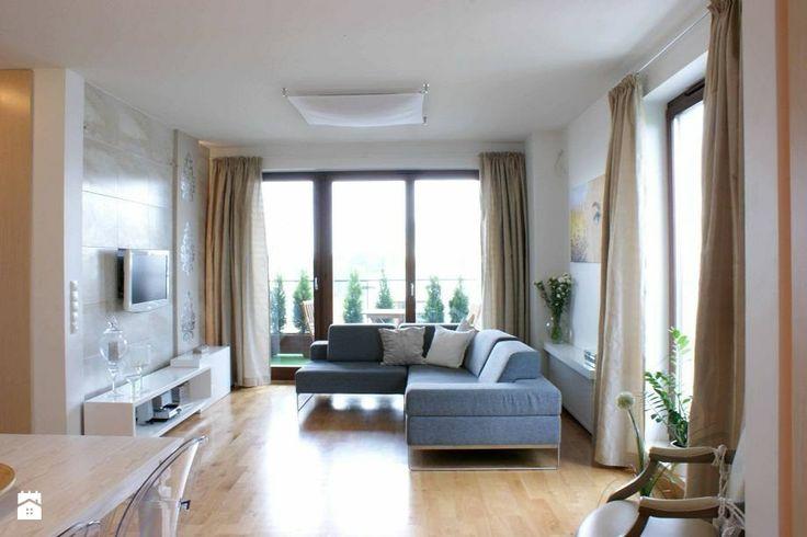 Apartament szaro-perłowy - Salon - Styl Nowoczesny -  Magdalena Sobula Pracownia Projektowa Pe2