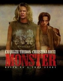 Monster (2003) Charlize Theron took home the Best Actress Oscar for her electrifying performance as Aileen Wuornos, an emotionally scarred highway hooker who shoots a sadistic client and ultimately becomes America's first female serial killer.. Charlize Theron, Christina Ricci, Bruce Dern...2a