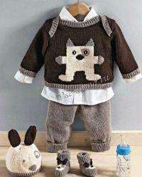 Пуловер, штанишки, шапочка и башмачки