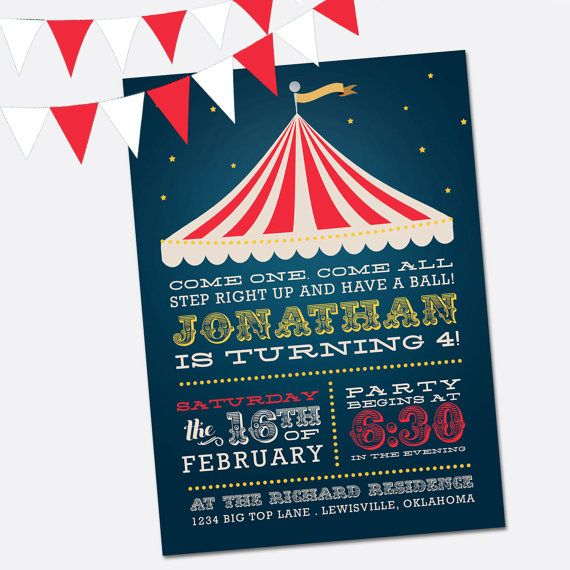 The  Best Circus Party Invitations Ideas On   Circus