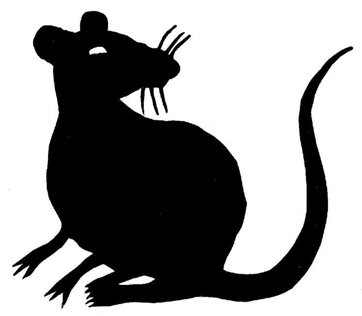 проведите картинка силуэт крысы периодическим попаданием стационар