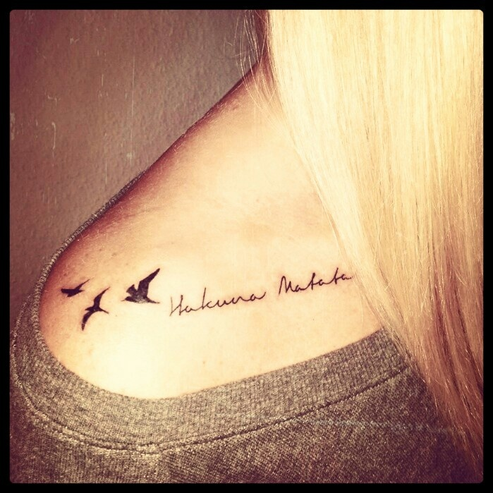 Literally love this! But on my wrist and only one bird
