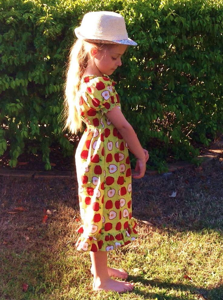 Pretty Summer Dress in funky apple print 100% cotton (bought from East Coast Fabrics)