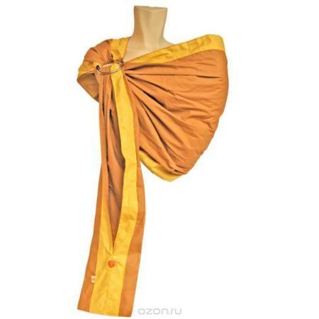 """Слинг на кольцах """"Бабочка"""", цвет: горчичный, желтый. Размер M  — 1039р.  Слинг на кольцах """"Бабочка"""" изготовлен из бязи - натуральной хлопковой ткани, экологичной, дышащей и гипоаллергенной. В этой модели нет ничего лишнего - но вместе с тем продумана каждая мелочь: уплотненные бортики, мягкое плечо, два вместительных кармашка на хвосте. Слинг - очень удобное, простое и естественное приспособление для ношения ребенка. Преимущества слинга на кольцах состоят в том, что мама может привязать…"""