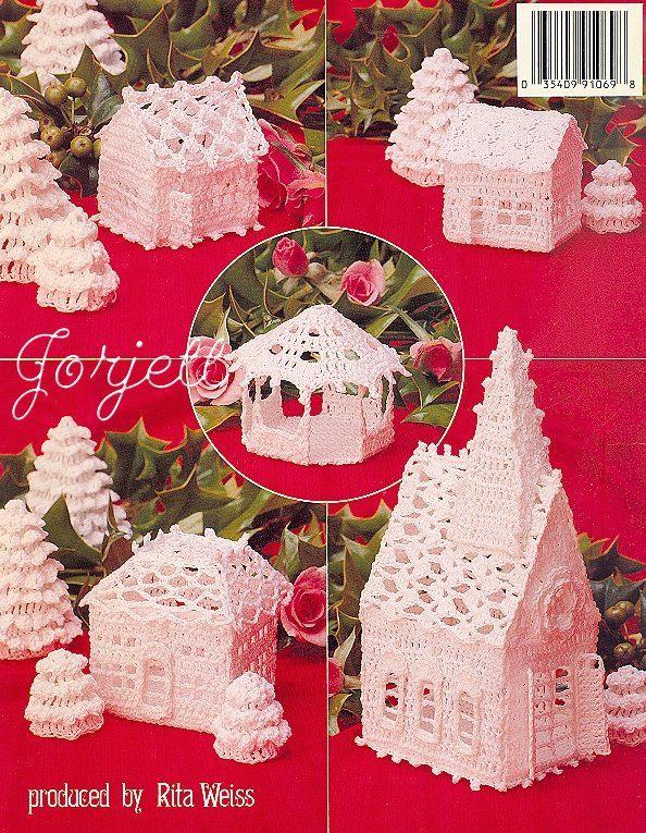 Details about Thread Crochet Christmas Village crochet patterns OOP