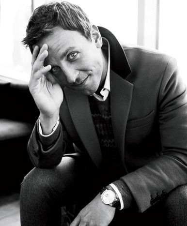 Seth Meyers. Such a goofy looking cutie, but I think that's why I love him so : )