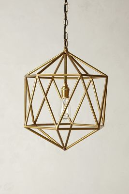 Gold Pendant light from Anthro $248