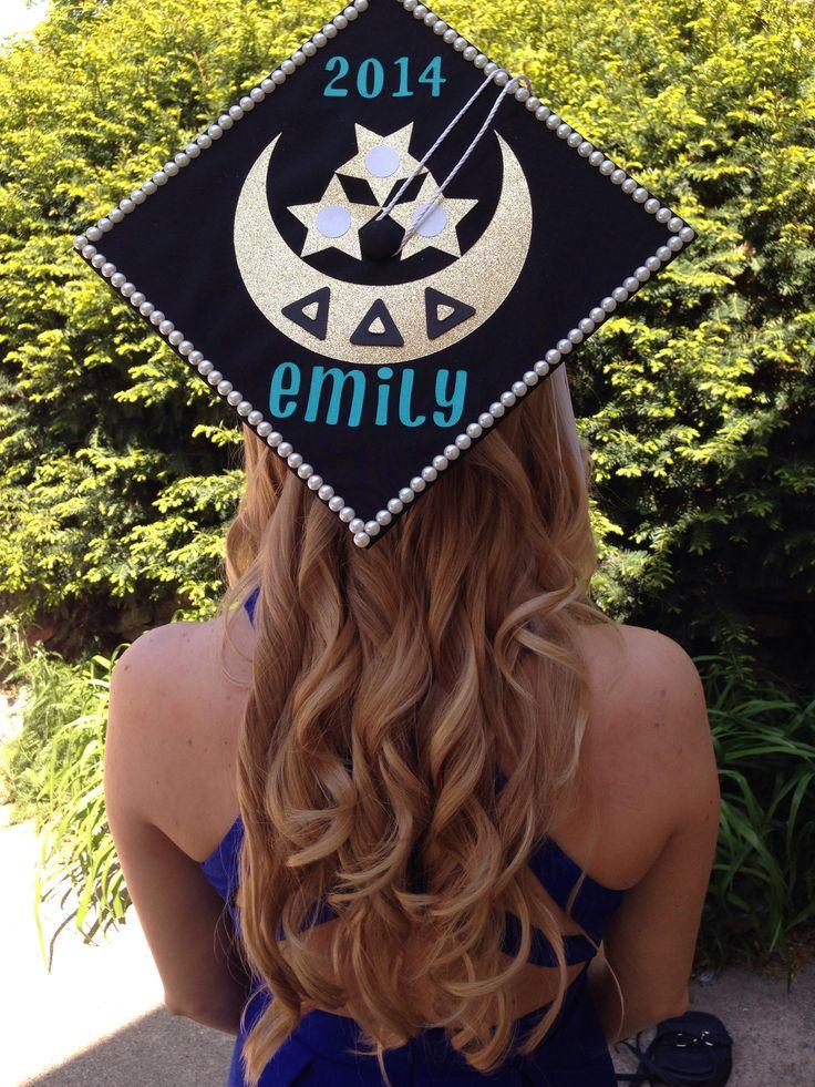 My Tri Delta badge graduation cap! #CUGrad  @Delta Delta Delta Fraternity