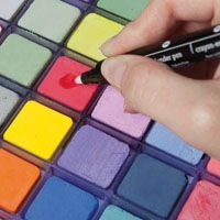 Multiple ways to use SU blender pens with Chalk, watercdolor crayons, ink pads, and more
