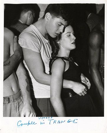 """""""Couple in Voodoo Trance,"""" about 1956: Photos, Voodoo Tranc, Weighing Arthur, 1956, Vintage Photography, Arthur Fellig, Dance Marathons, Couple, Weegee"""