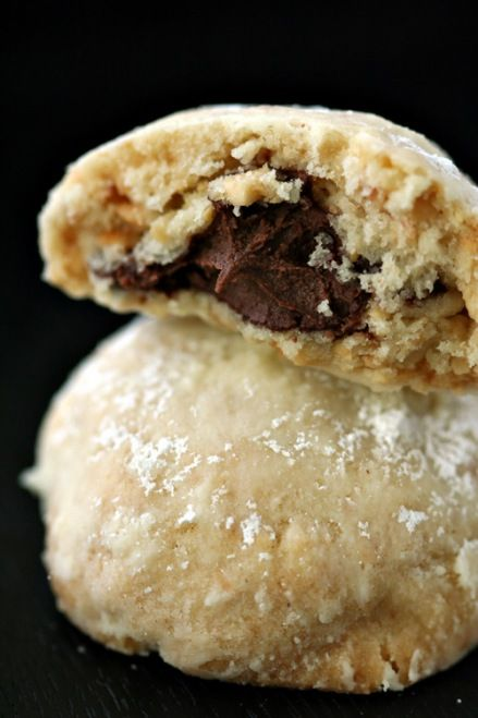Nutella Filled Hazelnut Cookies (Amanda you're killing me with these Nutella recipes - I've been a Nutella-addict from the age of 5, and these recipes are just making my addiction worse lol)
