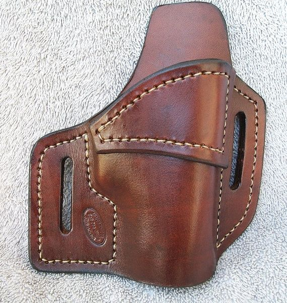 Right / Brown / IWB / Glock 42 Holster by JacksonLeatherWork Find our speedloader now! http://www.amazon.com/shops/raeind