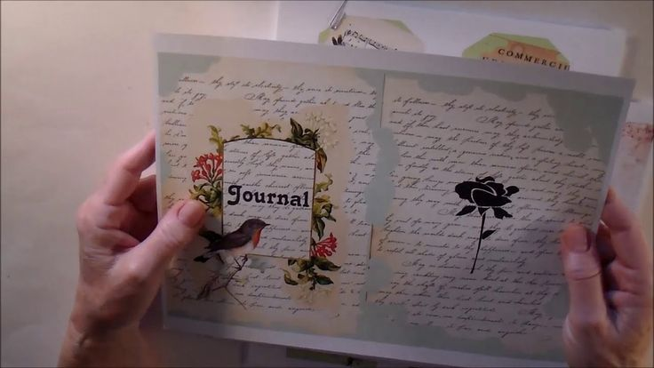 """Birds and Flowers Digital Kit by """"Artbee."""" on YouTube. You can see the completed journal she created at https://youtu.be/6ZMOii6nreE."""