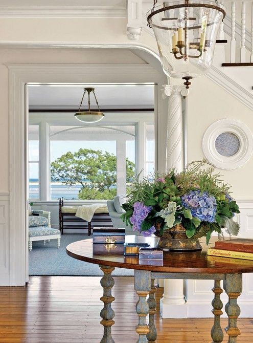 Beautiful coastal foyer!