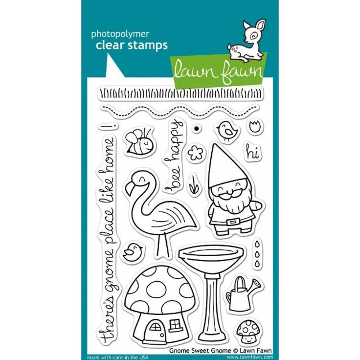 Lawn Fawn / stamps / lawn cuts / Lawn Fawn - gnome sweet gnome