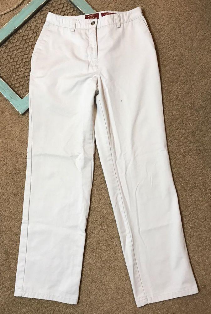Eddie Bauer Womens Size 8 Pants Khakis Flat Front Work uniform Career Business  | eBay