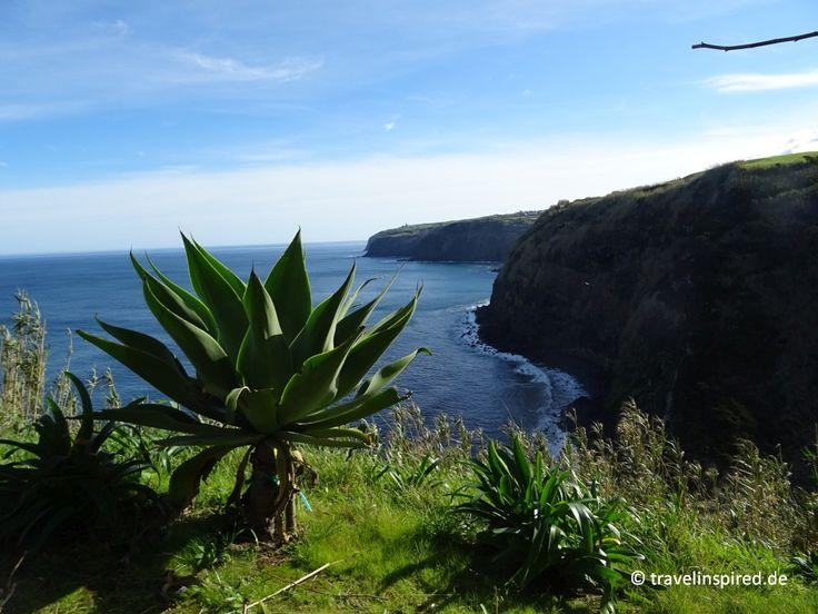 Miradouro da Rocha, Wanderung Fenais da Ajuda, São Miguel, Azoren #wandern #saomiguel #azoren #fenaisdaajuda #natur #küste #wanderung