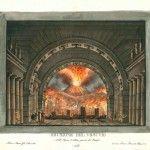 Alassandro Sanquirico. L'ultimo giorno di Pompei. Primer tercio s. XIX