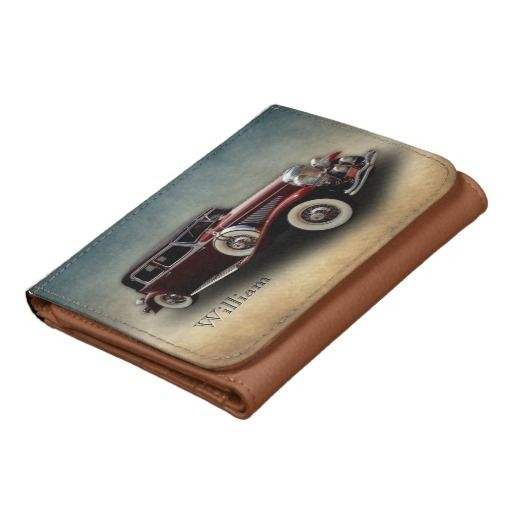 Duesenberg (Duesy) Model J Classic Car  - personalizable Small Faux Leather Wallet #vintage #classic #veteran #cars $24.95