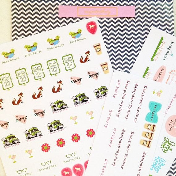 Sweet Briar College Planner Stickers College by MagnoliaLibertyCo