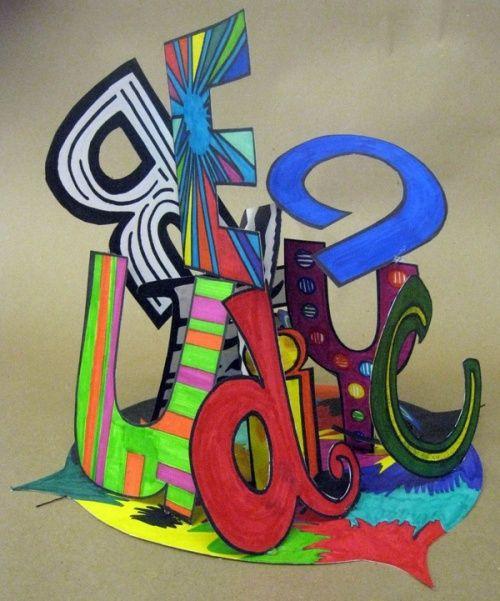 CM : arts visuels : activité de début d'année, le prénom