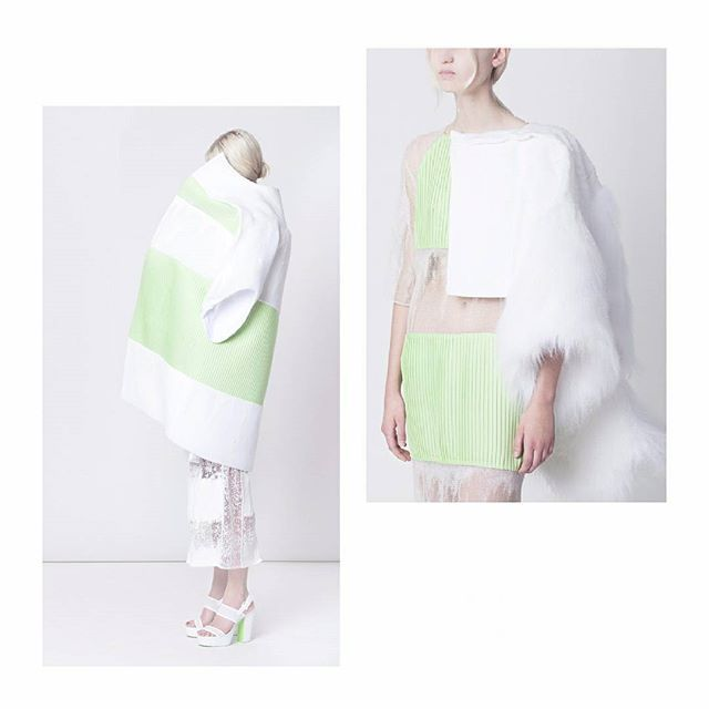 Zoe Ropella B.A. Alumni 3rd year  Collection ´ Blizzard `  #geometry #model #fashion #pastel #color #esmod #esmodberlin