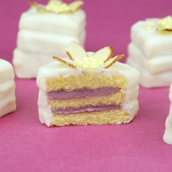 Easy White Chocolate Raspberry Petit Fours