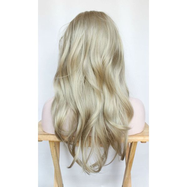 Long Blonde wig ($86) ❤ liked on Polyvore featuring beauty products, haircare and hair styling tools