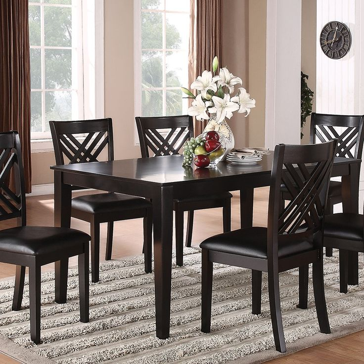 Casual Dining Room Furniture Sets: Brooklyn Black Dining Collection
