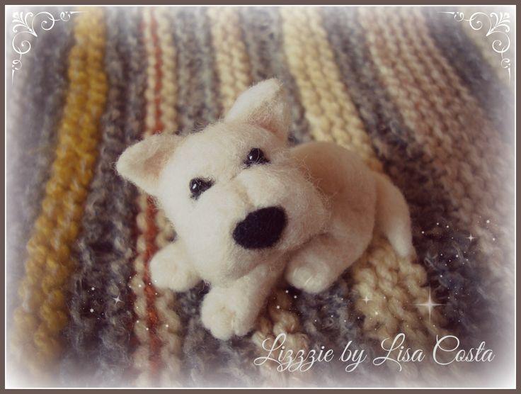 White dog (portrait)